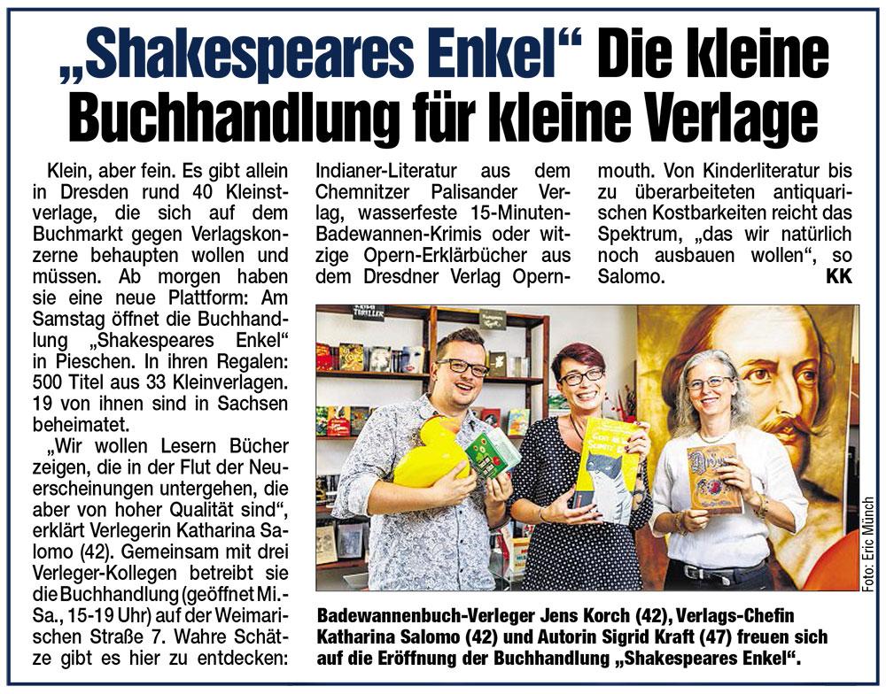 Dresdner Morgenpost 24.08.2018
